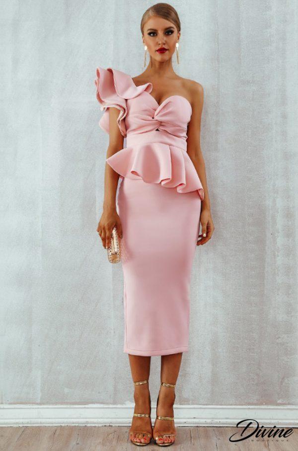 rochie cununie roz